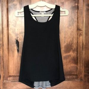 Forever 21 Black and White Sleeveless Athletic Top